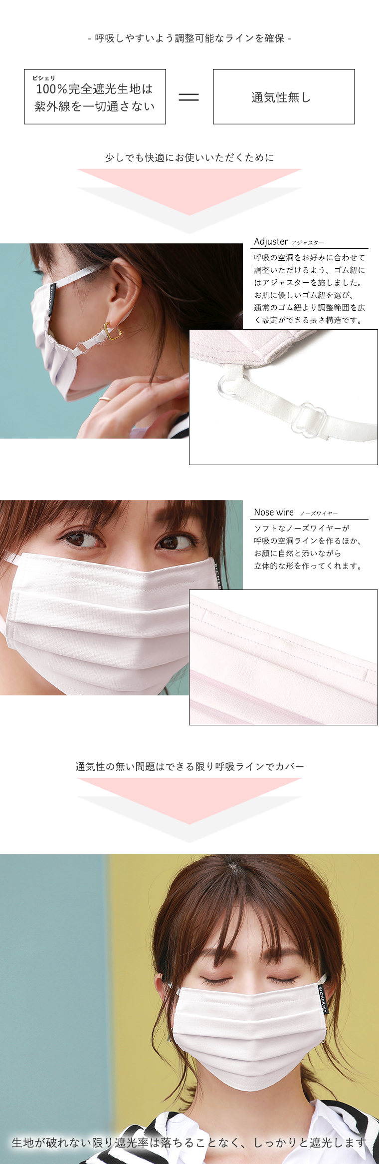 機能性あるUVマスク