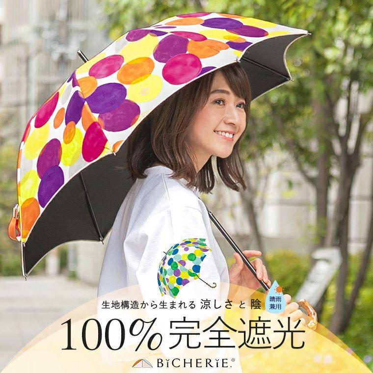 100%完全遮光日傘 Sサイズ アーチ水玉
